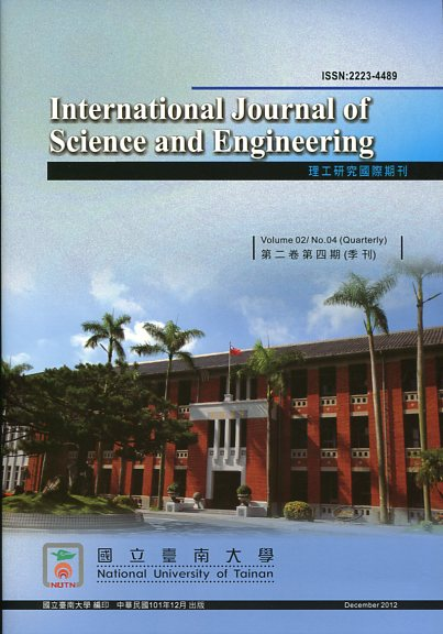 理工研究國際期刊(International Journal of Science and Engineering)-第09卷第1期(108/04)